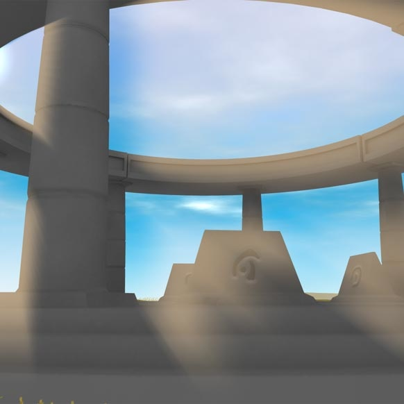 Sun Rays preview image - sunlight shining through monument pillars.